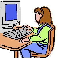 girl seated at desk clip art ms